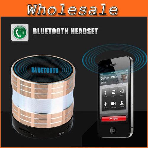 2014 Aluminum Bluetooth Handsfree Speaker With Microphone For iPhone /Samsung FM Radio Mini Wileress Bluetooth MP3 Speakers D95(China (Mainland))