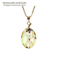 Neoglory Austria Crystal 14K Gold Plated Necklace & Pendants for Girl Gift Trendy For Women Brand 2014 New Romantic Simple JS9