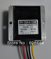 FREE SHIPPING NEW Waterproof DC DC buck Converter 12V/24V (11V-40V) convert to 9V 15A 135W output for car RoSH CE