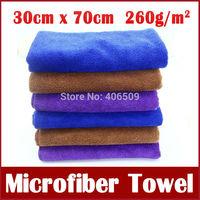 5pcs Microfiber Towel Car Cleaning Clan Polish Cloth Car Wash Tool Auto Dry Water absorptive Towel Free Shipping 30cm*70cm 55g
