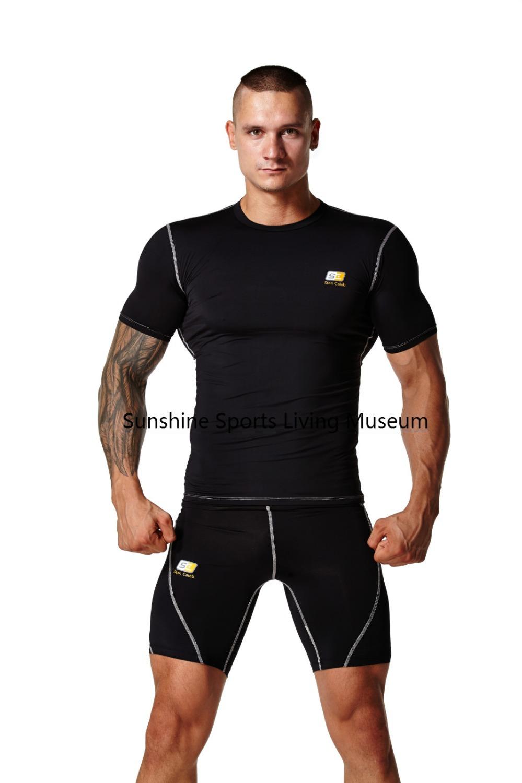 Top quality Rash Guard compression shirts sports t-shirts gym tight Fitness shirts men t shirt men shirts(China (Mainland))
