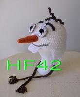 free shipping, new Cartoon snowman hat - Olaf hat , Baby Boy or Girl Crochet Hat newborn Photography Prop 100% cotton