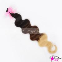Three 3 Tone Ombre #1b/4/27 Brazilian Virgin Human Hair Weave Body Wave Weaving Extension 3pcs/lot and 4 pcs/lot