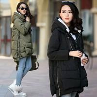 2014 Winter jacket coat for women's thickening wadded jacket outerwear cotton-padded jacket medium-long wadded jacket coats .