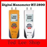HT-1890 High Performance Manometer gauge/Digital Manometer Air Pressure Meter Gauge Kit + Case,Free Shipping