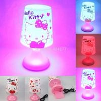 Cute Cartoon Hello Kitty USB Battery LED Night Lamp,Multicolor Lamplight Night Lights Desk Light Christmas Birthday Gift