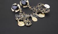 Rhinestone synthetic Crystal cross Vintage Big long  Earrings, Earring Jewelry Gift for Women Free Shipping