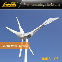 SKY 1200W 48V/110V 5 blades factory supply horizontal wind turbine