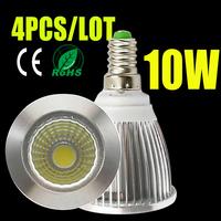 4pcs led bulb e14 220v 110v 7W/10W/15W led light home led spotlights led lampada  cob downlight