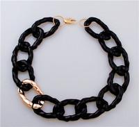 necklace women 2014 new women jewelry acrylic link chain gold black