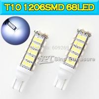 Best Quality T10 W5W LED  1206 SMD 68LED Led Lights 1206SMD 68LED Wedge Light 168 194 501