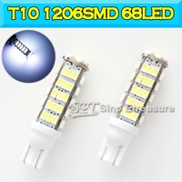 Best Quality T10 W5W LED  1206 SMD 68LED Led Lights 1206SMD 68LED Wedge Light 168 194 501