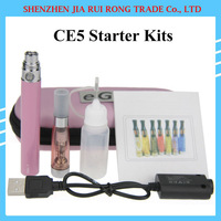 Electronic Cigarette eGo CE5 Kits E Cigarette eGo-T Battery 650mah 900mah 1100mah CE5 Invisible Wick Atomizer in a Zipper Case