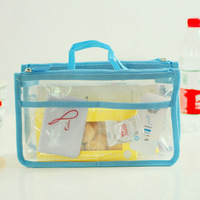 2014 New Style Portable storage bags double zipper cosmetic bags liner bag sorting bags