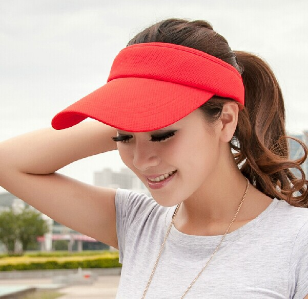 2014 Summer Sun Visors Topless UV Long Outdoor Long Brim Baseball Caps Hats (7 Colors)(China (Mainland))
