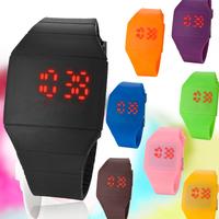 2014 Creative Digital Watch Ultra-thin Fashion Men Lady Women Silicone Wristwatches Led Digital Sports Watch relogio masculino