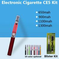 eGo CE5 Kits e-Cigarette Rebuildable 1.6ml CE5 Atomizer 650mah 900mah 1100mah 1300mah ego t Battery eGo CE5 e cigs Blister pack