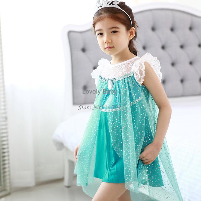 2014 baby amp kids girls frozen font b costume b font princess lace