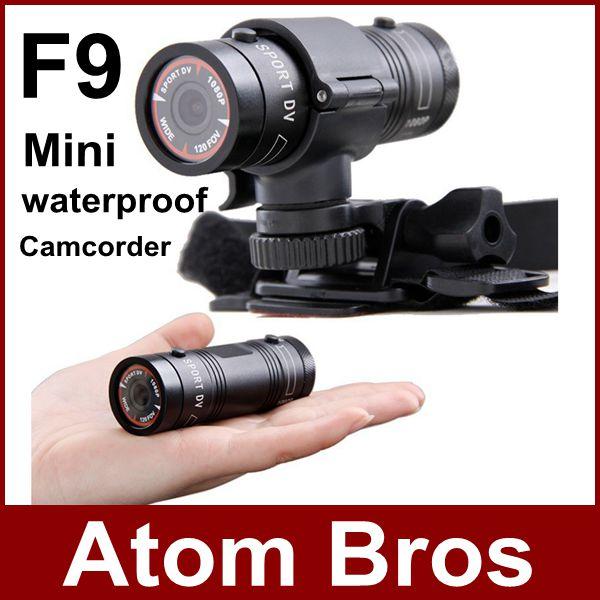 Mini Camcorder F9 Full HD 1080P Waterproof Action Camera Sports Camera Expedition Outdoor Cycling Diving DV Video Recorder(China (Mainland))