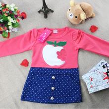 2014 primavera y otoño nuevos niños de manga larga T -shirts conjunto Niñas Niños(China (Mainland))