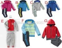 children's shampooers jogging tracksuits sport set hooded coat+pants kids baby boys Spring Autumn cartoon clothes Suit 5sets/lot