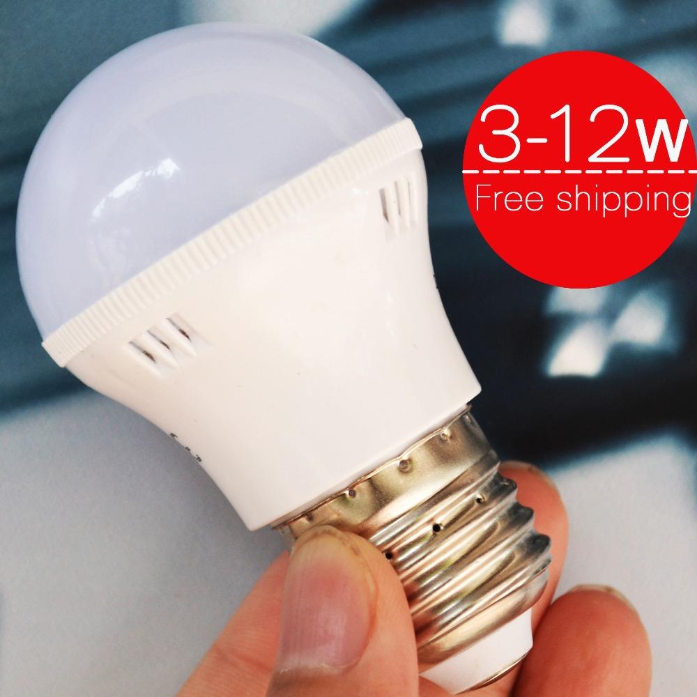 2014 New arrival LED bulb lamp 3W 5W 7W 9W 12W E27 LED light lighting high brighness 220V 230V warm white/white D3-D12(China (Mainland))