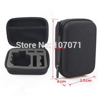 Size S with hanger GOPRO Bag Carry Case For Gopro Hero3+ Hero3 Hero2 Gopro Bags Travel Camera Accessories POV 4.0 Black