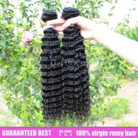 Queen berry  best quality 3pcs lot kinky deep wave hair extensions aliexpress guranteed eurasian ocean tropic virgin remy hair