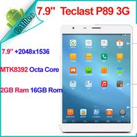 """Teclast P89 3G Tablet 7.9"""" Retina IPS 2048x1536 MTK8392 Octa Core 1.7GHz 2GB Ram 16GB Rom WCDMA GSM Call Bluetooth 4.0 GPS 5.0MP"""