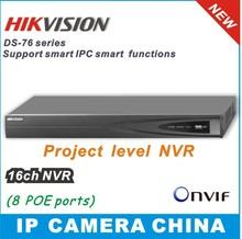 16 canales hikvision 2014 nvr& 8ch enchufe jugar hasta 5 megapíxeles poe onvif network video recorder(China (Mainland))