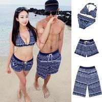 2014 New styles Women's/Men's beach shorts swimwear Bikini boardshorts surf shorts Board Sports Beach lovers pants B12 SV005628