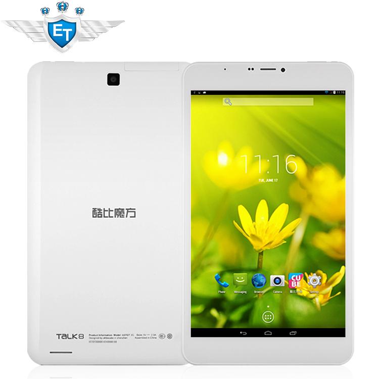 Cubo u27gt talk8 3g quad core tablet pc 8 pollici IPS 1280x800 telefonata mtk8382 1,3 GHz androide 4.4 1gb ram 8gb wcdma bluetooth
