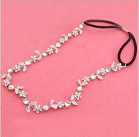 holiday style sweet fashion girl hair accessories flower diamond headband  princess bridal headwear 12pcs/lot free shipping