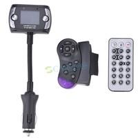 1.5 Inch LCD Screen Car Bluetooth Steering Wheel FM Modulator Transmitter MP3 Player Support USB TF SD MMC b8 SV006293