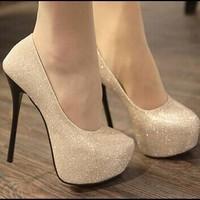 Ladies Fashion Sexy Evening high heels Shoes black/silver Colour Party Pumps Black Heel Wedding Shoes M002