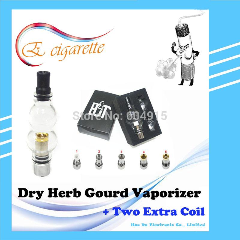 Double deck glass Gourd globe atomizer wax dry herb Vaporizer glass tank Cartomizer for e cig Electronic cigarette vapor pens(China (Mainland))