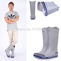 Brand New Men Fashion Rubber Tall Short Rainboots Flat Heels Waterproof Sailor Rain Boots Water Shoes Factory Price  #TS89