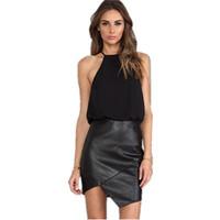 mode frauen 2014 kleidung schwarz chiffon top Saias femininas minikleid vinyl lc21035 atacado de roupas femininas versandkostenfrei
