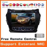 2 Din Car DVD Automotivo Styling For Hyundai ix45 Santa Fe 2013+GPS Navigation+3G+DVR+Buletooth+Car Pc+Audio+Radio+Stereo+Canbus