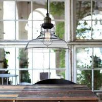 Pendant Light Glass Bowl Retro European Style RH Loft, Europen,Modern,For Bedroom,Living Room, Dining Room