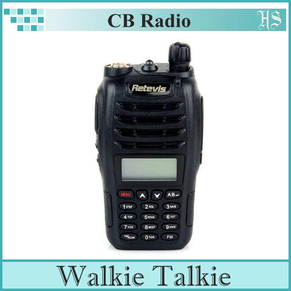 New Walkie Talkie RETEVIS RT-B6 5W 99CH UHF+VHF 136-174MHz+400-480MHz Dual Band/Frequency VOX Two-way Radio Black(China (Mainland))