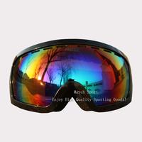 2014 Myopia Goggles Eyewear Glasses For Ski Snowboard Climbing Black Frame Double-Layer UV Protection Men Women High Quality