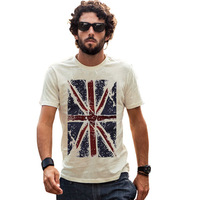 New Spring Summer Fashion Casual Dry Fit Man T-shirts, Men's USA American Flag T shirt Men Fitness Short Sleeve Men's Clothing