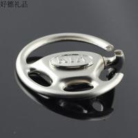 Free shipping 4 s shop car man woman Christmas Kia key chain wheel model logo key key ring