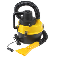 New Portable 12V Wet & Dry Auto Car Dust Car Vacuum Cleaner with Brush / Crevice / Nozzle Head