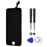 Free shipping 100% Guarantee LCD display For iPhone 5c Touch Screen Digitizer Assembly Replacement With Free Tools Black
