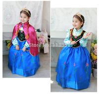 Frozen Children Clothing Girl Elsa Princess Dress Festival Formal Long Dresses Baby Frozen Dresses Fit 2-7Age Kids Wear