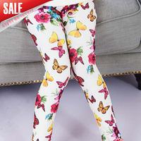 5pcs/lot 2014 autumn girls fashion 16 colors size 110-150 pants kids star/polka dot/ heart/floral/butterfly printed leggings