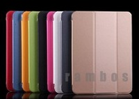 Folding Smart Tablet Cover Case Silk Leather Skin Shell Cover for Samsung Galaxy Tab 4 10.1 T530