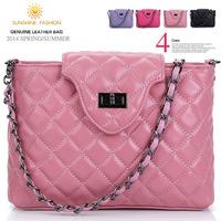 Famous brand women handbag genuine leather chain women's messenger bags Design vintage bag crossbody shulder bag for female